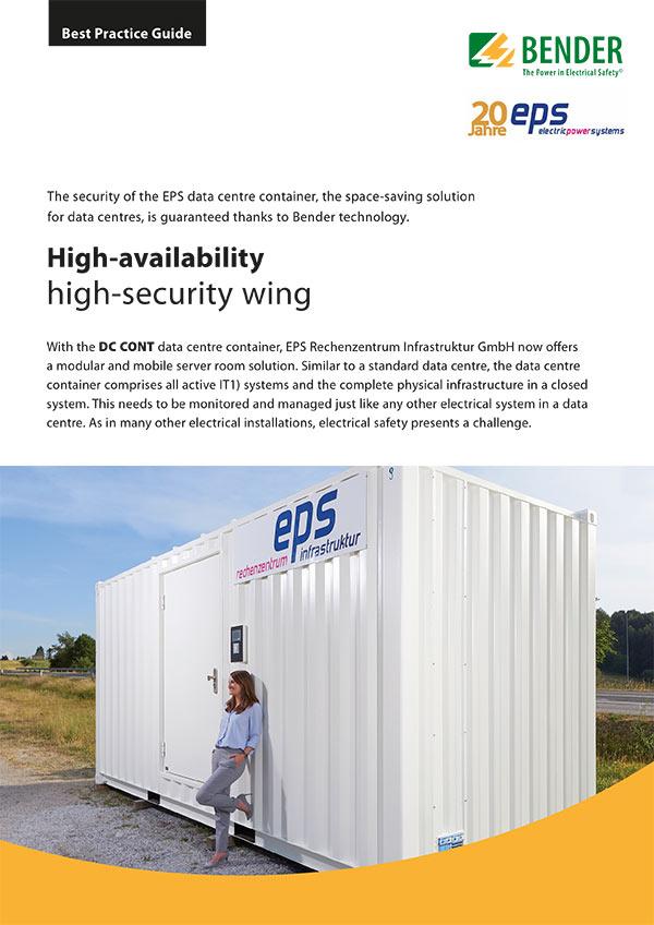 Best Practice Gude: Hochverfügbarer Hochsicherheitstrakt EPS Datacenter Container